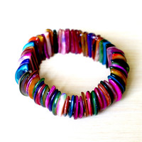 Recycled Buttons Colorful Bracelet