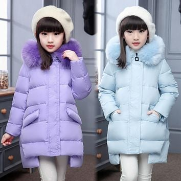 Girl's Down jackets coats baby Girl winter Coats thick duck Warm jacket Children Outerwear jackets