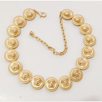 VERSACE Fashion Women Personality Earrings Necklace Jewelry