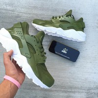Tagre™  Nike Air Huarache Run Ultra Fashion Running Sport Shoes Sneakers Shoes Olive Green