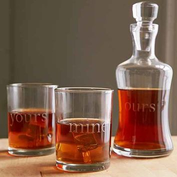 Yours, Mine And Ours Decanter Set