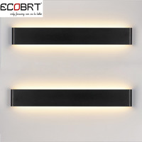 Modern 14W 41Cm Long Aluminum Black / White Led Sconce Indoor Wall Lamps In Bedroom As Decoration Lighting Fixtures 100-240V Ac