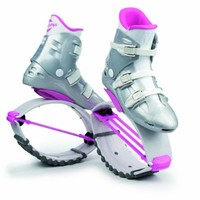 Kangoo Jumps KJ-XR3, White and Pink, Small Womens 4, 5, 6 Mens size 3,4,5