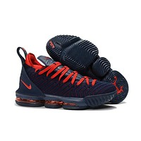 LeBron 16 XVI Navy/Red Sneaker Shoe