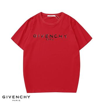 GIVENCHY Fashion Men Casual Classic Print T-Shirt Top Red
