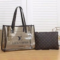 Louis Vuitton LV Two-Piece Set Street Style Jelly Bag Clutch Bag Shouti Fashion Ladies Shoulder Shopping Bag