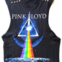 Pink Floyd studded Crop top
