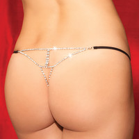 Diamond Back G String, Rhinestone Thong, Rhinestone G String