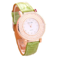 Womens Crystal Sports Leather Watches Best Christmas Gift