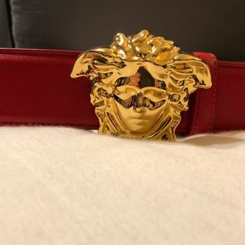 Mens Versace belt - red size 95/38