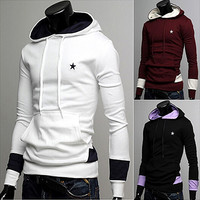 Drawstring Hoodie with Star Detail