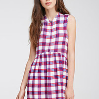Plaid Buttoned Dress