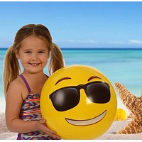 Inflatable Smiley Ball Inflatable Beach Ball Fun Expression Ball (6pc)