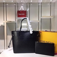LV Louis Vuitton SUPREME EPI LEATHER NEVERFULL HANDBAG TOTE BAG