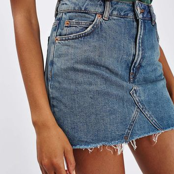MOTO Denim Pelmet skirt - Topshop