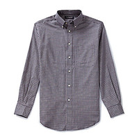 Roundtree & Yorke Oxford Check Long-Sleeve Sportshirt