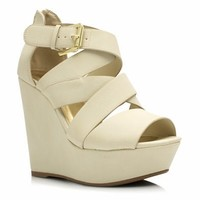 Strappy Crisscross Wedges - GoJane.com