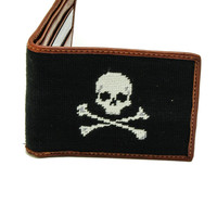 Needlepoint Wallet Jolly Roger