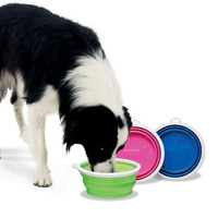 Collapsible Silicone Dog Bowls
