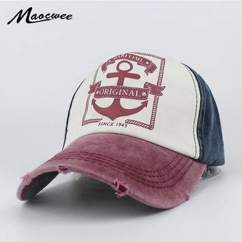 Trendy Winter Jacket Recreation Washed Retro Baseball Cap Women Vintage Anchor Snapback Hat for Men Casual Patch Dad Cap Summer Trucker Hat Bone 2018 AT_92_12