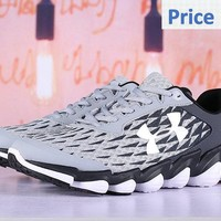 men shoes casual sneakers Under Armour Spine Disrupt Mens Running Shoes Footwear Athletic Shoes Wolf Grey Black shoes