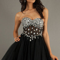 Strapless Bustier Party Dress by Mac Duggal