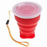 200 ml Silicone Vogue Outdoor Travel Retractable Folding Telescopic Collapsible Folding Water Bottle 72201