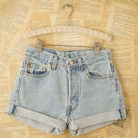Free People Vintage Levi's Denim Cutoffs