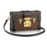 LV Louis Vuitton Trending Women Shopping Print Leather Monogram Canvas Leather Crossbody Satchel Shoulder Bag Handbag I