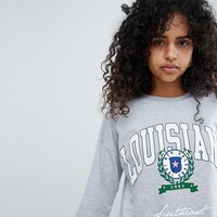 New look Louisiana Crest Sweat at asos.com