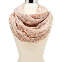 PASTEL LEOPARD PRINT INFINITY SCARF
