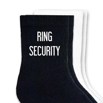 Ring Security Wedding Socks - Non-custom Crew Socks