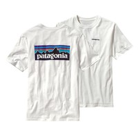 Patagonia Men's P-6 Logo Organic Cotton T-Shirt | Coral