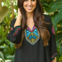 Living With A Purpose Blouse-Black