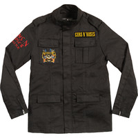 Guns N Roses Men's  Army Jacket Black