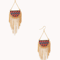 Zigzag Chained Drop Earrings