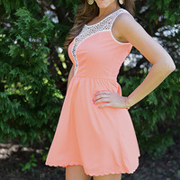 Such A Tease Dress, Coral