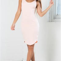 On The Run Dress in Light Pink