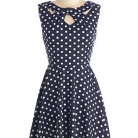 ModCloth Mid-length Sleeveless A-line Love You Dots Dress