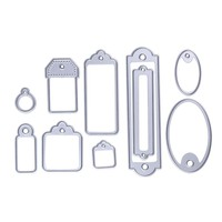 10 Pcs Steel Labels Hollow Out Template DIY Cutting Dies Album Decor Paper Scrapbooking Craft NG4S
