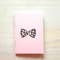 Small Notebook: Bow Tie, Pink, For Him, Men, Favor, Hipster, Wedding, Gift, Unique, Notebook, Journal, Christmas, Stocking Stuffer, RR320