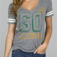 Women's NFL Green Bay Packers Tee T-Shirt by Junk Food