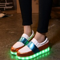 Lightning Round-toe LED Shoes [6734574727]
