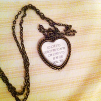 The Mortal Instruments - City of Bones - Quote - Necklace