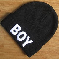 Boys & Men Boy London Hiphop Women Men Beanies Winter Knit Hat Cap