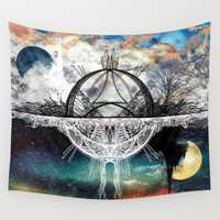 TwoWorldsofDesign Wall Tapestry by J.Lauren