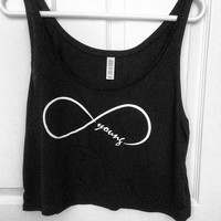Forever Young Loose Crop Tank
