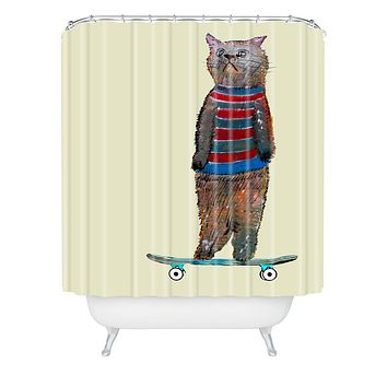 Brian Buckley Roll With It Shower Curtain