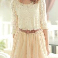 Vintage Doll Peter Pan Collar Lace Top in Cream | Sincerely Sweet Boutique