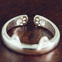 Unique Simple Adjust Cat Ring + Beautiful Gift Box